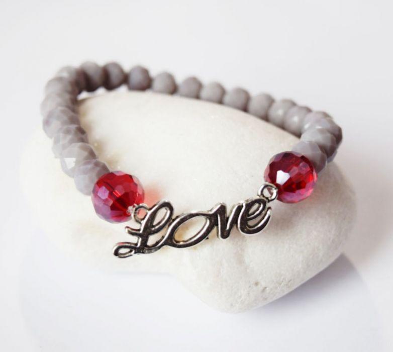WALENTYNKI LOVE kryształki-bransoletka