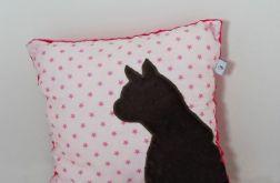 Poduszka z kotem i ogonem 3D brąz kot