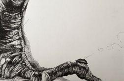 "Rysunek piórkiem ""Domek"" artystki A.Laube"
