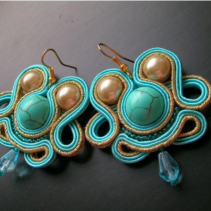 Klejnoty Azteków - kolczyki sutasz