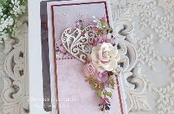 Ślubna kartka w pudełku 445