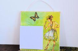 Deseczka na notatki - Dziewczyna z motylem