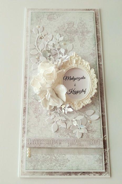 "kartka ślubna ""Elegancja"""