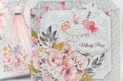 Romantyczna kartka ślubna w pudełku KS2002