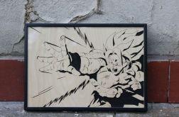 Drewniany obraz Son Goku Dragon Ball