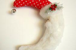 Wianek świąteczny Mikołaj handmade