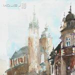 Kurza stopka - Kraków w akwareli