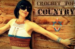 SUMMER CROCHET TOP COUNTRY / top na lato