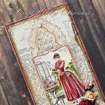 Dama w czerwonej sukni