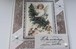 Kartka świąteczna 18 z aniołem
