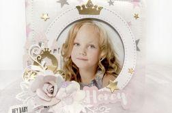 Ramka dla małej księżniczki prezent chrzest