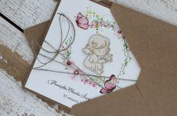 Kartka na chrzest z kopertą - życzenia i personalizacja d6