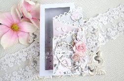 Ślubna kartka kaskadowa w pudełku 239