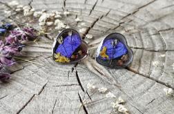 Kolczyki z fioletowym płatkiem