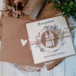 Rustykalna kartka na ślub 05 -