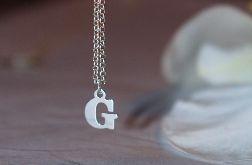 Srebrny naszyjnik z literką