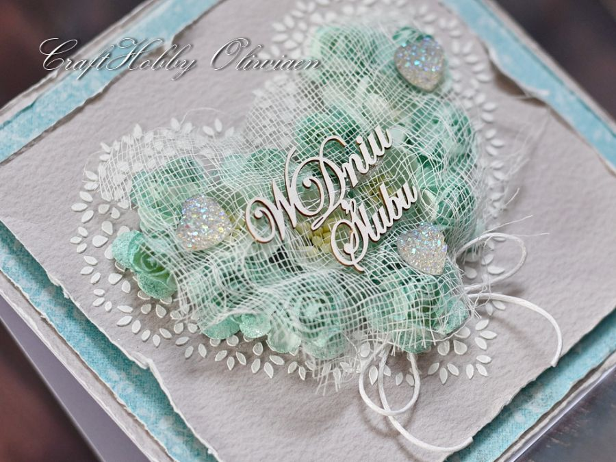Ślubne serce turkusowe - Ślubne serce turkusowe - detal III