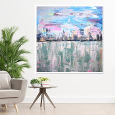 Obraz akrylowy malowany na płótnie 70x70