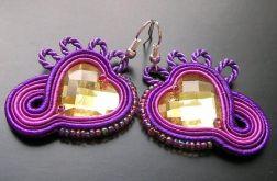Serce w purpurze - kolczyki sutasz