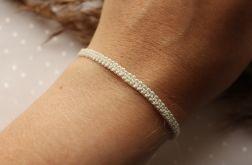 Pleciona, kremowa bransoletka na rękę