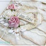 Delikatna i romantyczna kartka na Ślub
