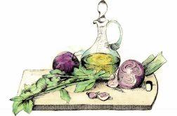 Deska z warzywami