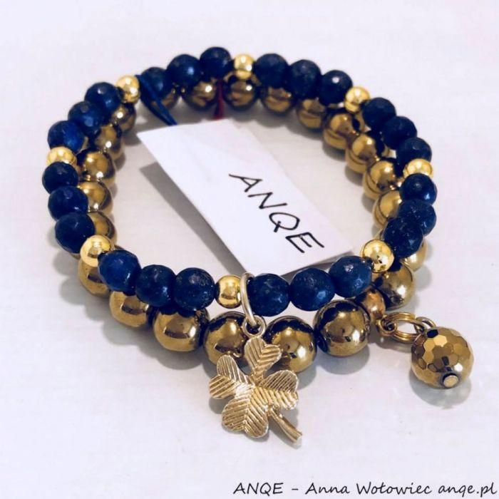Zestaw 2 Bransoletek Lapis Lazuli  model 3