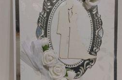 Kartka ślubna srebrna edycja