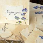Zaproszenie ślubne szałwia zaproszenia