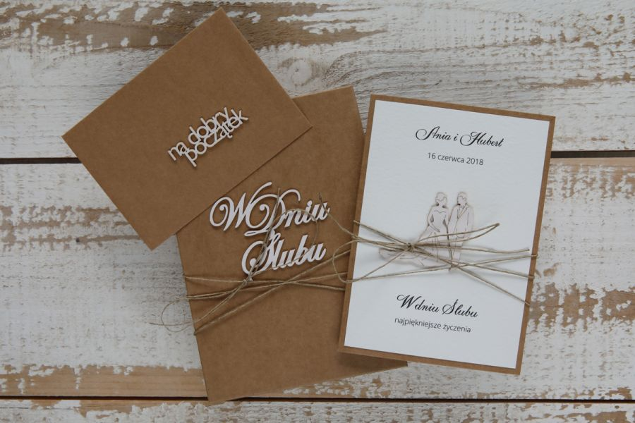 kartka ślubna z personalizacją i pudełkiem +k