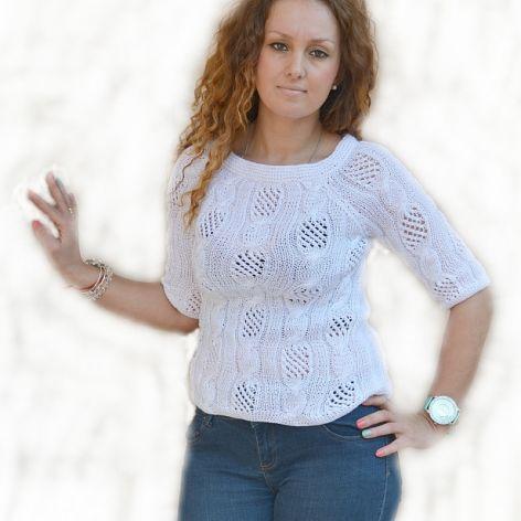 Biała  ażurowa bluzeczka ;o))