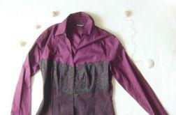 Bordowa bluzka z koronką