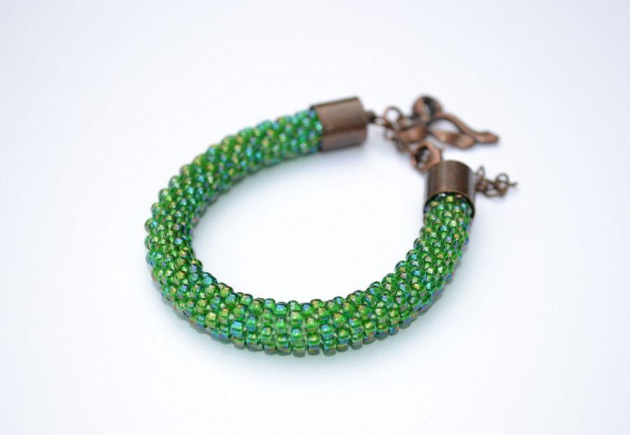 Tęczowa zieleń - Bransoletka tęczowa zieleń