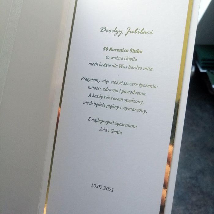 Kartka na rocznicę biało złota PRS 030 - Kartka na rocznicę biało złota 3
