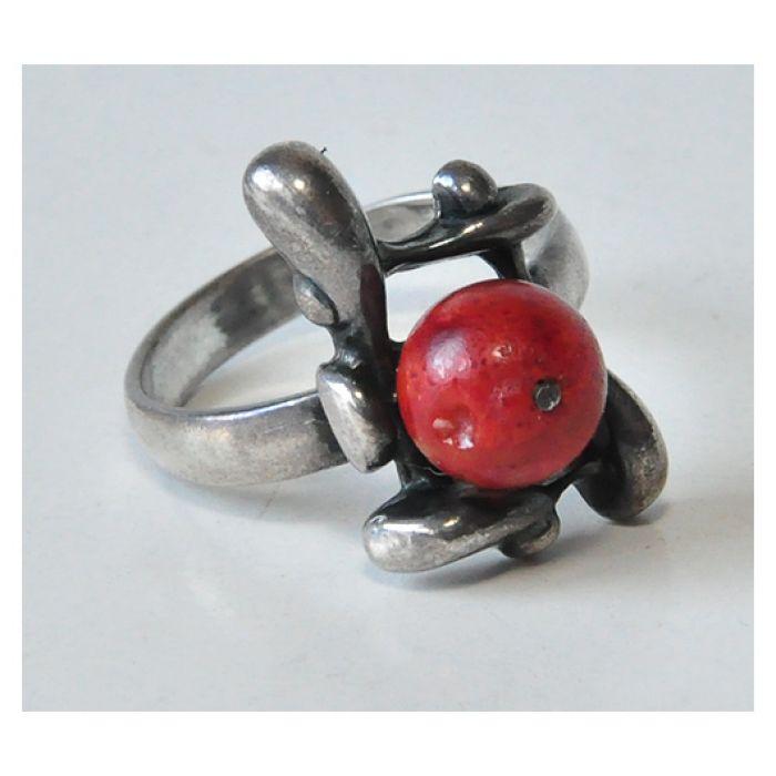 autorski pierścionek z koralowcem (5) - null