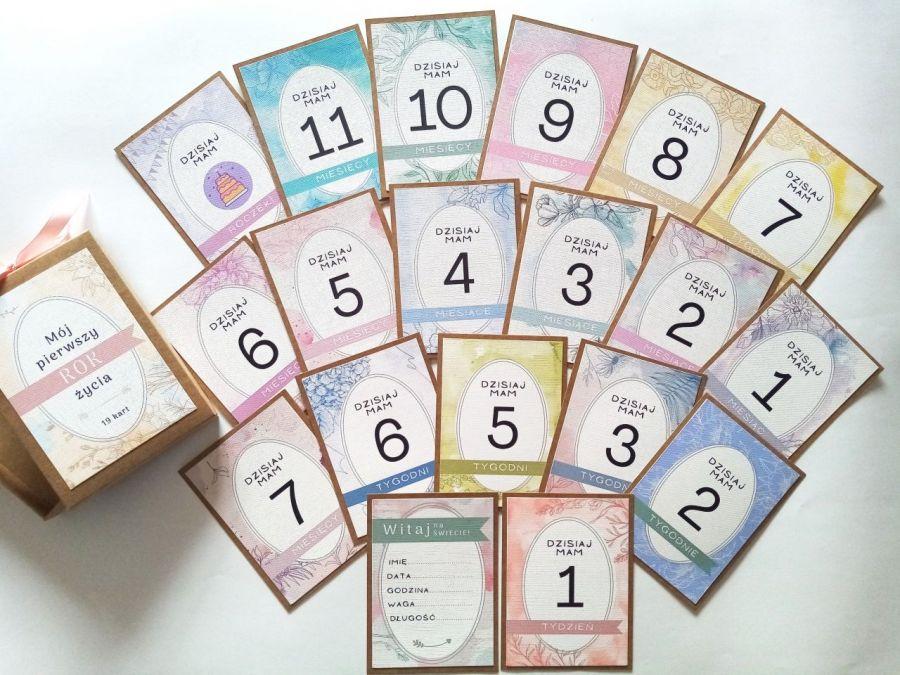 karty do zdjęć - kolorowy zestaw  - Karty 02