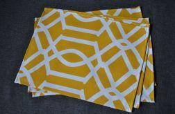 4 podkładki pod talerze Żółte arabeski II