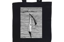 Kapelusz - torba z nadrukiem czarna