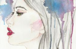 Red lipstick profile