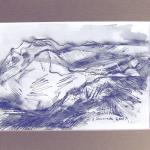 Szkic górski nr 10 -  czarno-biały rysunek