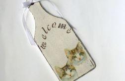 Mini deseczka kotki welcome