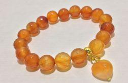 Bransoletka agat pomarańczowy model 1