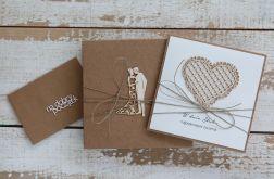 Oryginalna kartka ślubna i pudełko a12