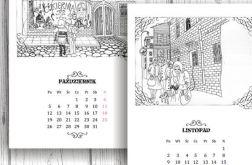 Miejskie Baśnie... kalendarz rysowany piórkiem