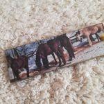Zakładka z końmi - Przedmiot ręcznie zdobiony grafiką z końmi