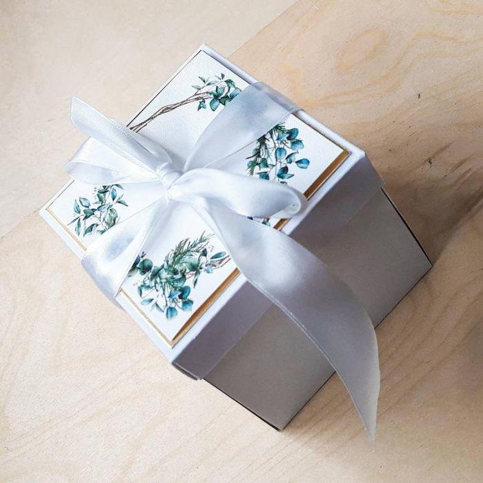 Kartki ślubne Exploding box ślubny #0003 - kartka na ślub z życzeniami