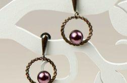 Subtelne kolczyki z perłami a501