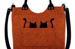 Cats on orange-melange/strap