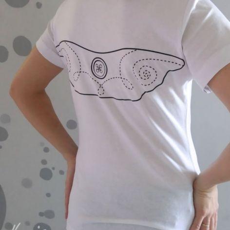 Anielska koszulka ze skrzydłami biała XL