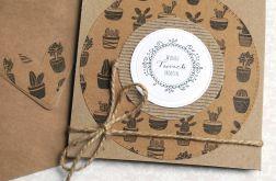 kaktusowa KARTKA URODZINOWA :: eko